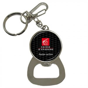 CAISSE D`EPARGNE TEAM BOTTLE OPENER KEY CHAIN CYCLING NEW (FREE SHIPPING WORLDWIDE!!)