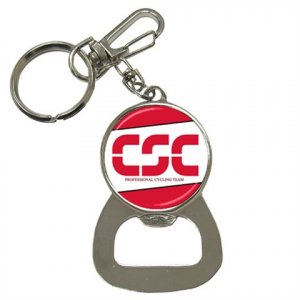CSC PRO CYCLING TEAM BOTTLE OPENER KEY CHAIN CYCLING NEW (FREE SHIPPING WORLDWIDE!!)