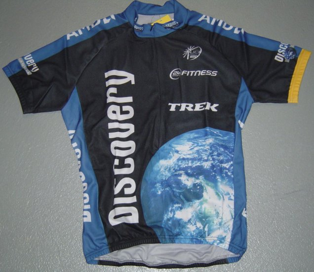 DISCOVERY CHANNEL 2007 CYCLING CYCLE BIKE JERSEY SZ L