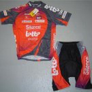 SILENCE LOTTO CYCLING CYCLE BIKE JERSEY AND SHORTS SZ L