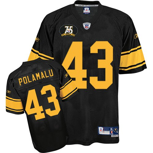 PITTSBURGH STEELERS TROY POLAMALU THROWBACK Jersey SZ 48(M) NEW (RARE!! Free Shipping!!)