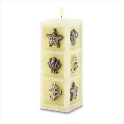 Seascape Cube Candle in a Sea-Breeze scent