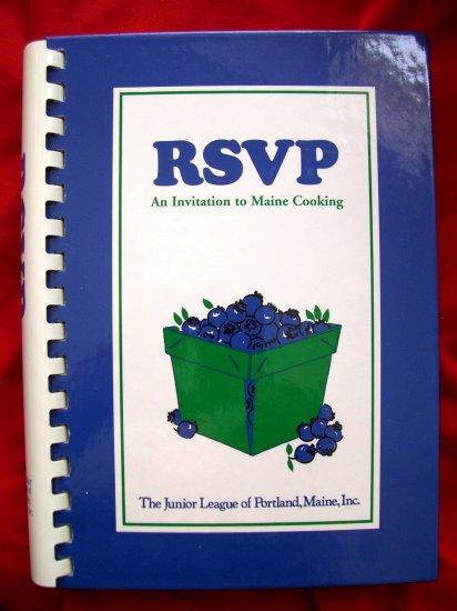 RSVP JUNIOR LEAGUE OF PORTLAND MAINE COOKBOOK