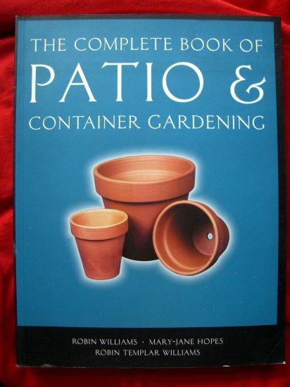 COMPLETE BOOK PATIO PLAN & CONTAINER GARDEN /GARDENING INSTRUCTION BOOK