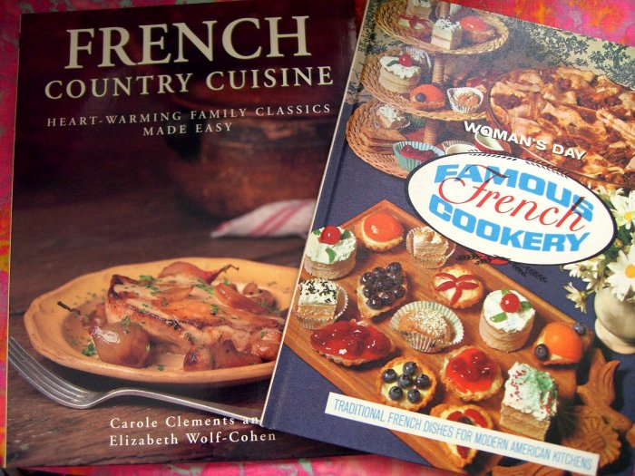 VINTAGE FRENCH COOKBOOK & CLASSIC RECIPES FROM FRANCE Lot 2 Cookbooks
