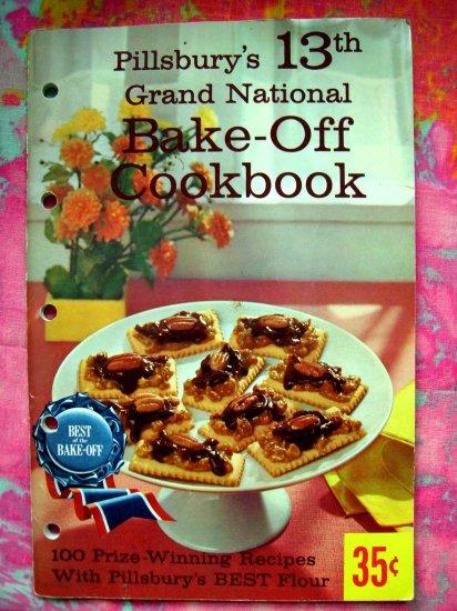 SOLD!  VINTAGE 1961 PILLSBURY BAKE OFF COOKBOOK 13th GRAND NATIONAL 100 RECIPES