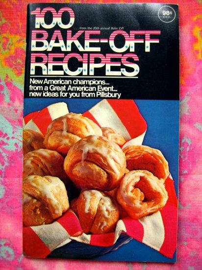 SOLD! VINTAGE 1969 PILLSBURY BAKE OFF 20th COOKBOOK 100 RECIPES