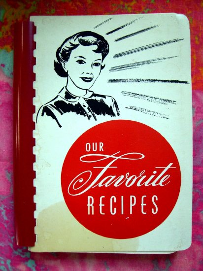 Sold!  VINTAGE 1968 WEST BEND WISCONSIN CHURCH COOKBOOK RECIPE