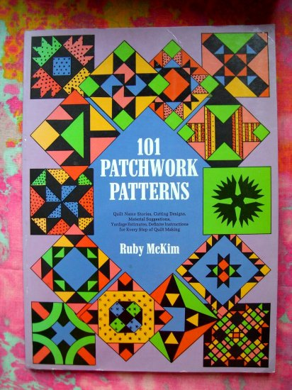 SOLD!  101 PATCHWORK QUILT (QUILTING) PATTERN BOOK 140 ILLUSTRATIONS