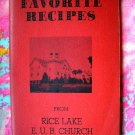 WELLS MINNESOTA MN FAVORITE RECIPES from RICE LAKE E.U.B. CHURCH VINTAGE COMFORT FOOD RECIPES