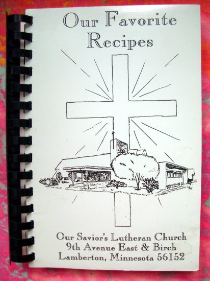 SOLD! LAMBERTON MINNESOTA MN LUTHERAN CHURCH COOKBOOK 1993