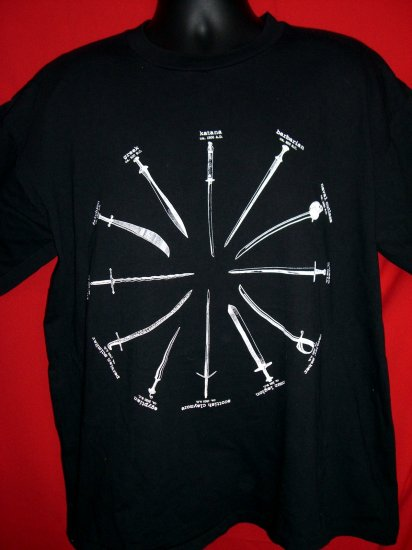 """SOLD! The HIGHLANDER XL T SHIRT """"There Can Be Only One"""" SWORDS 1996"""