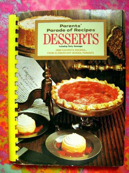 SOLD! Vintage 1969 DESSERT RECIPECookbook Parents 2,000 Recipes Cakes Pies Beverages MORE!