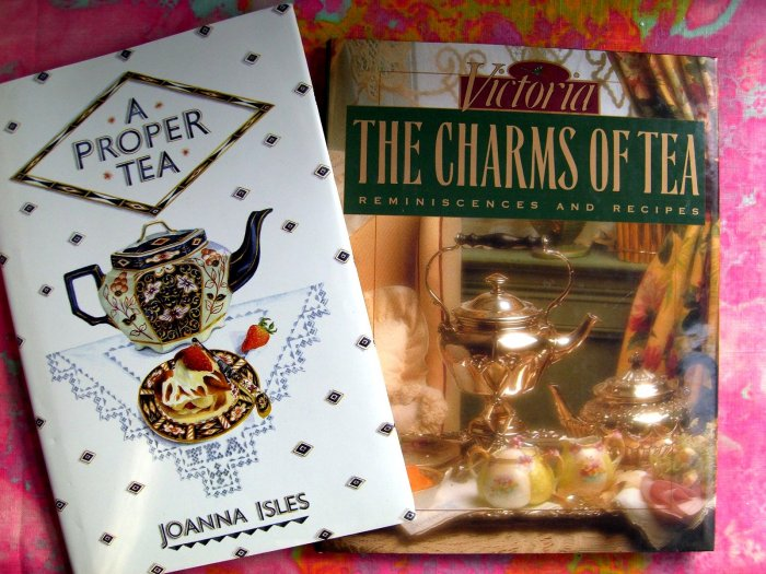 HOLD! VICTORIAN The CHARMS of TEA & A Proper Tea LOT of Recipe / Cookbook HC