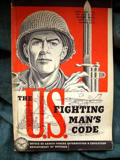 SOLD! U.S. Fighting Man's Code 1955 America's ARMY Handbook on Conduct