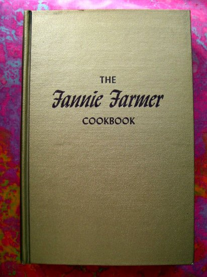 Sold! Vintage Fannie Farmer COOKBOOK Gold Cover 11th Edition 1965 Classic Comfort Food Recipes