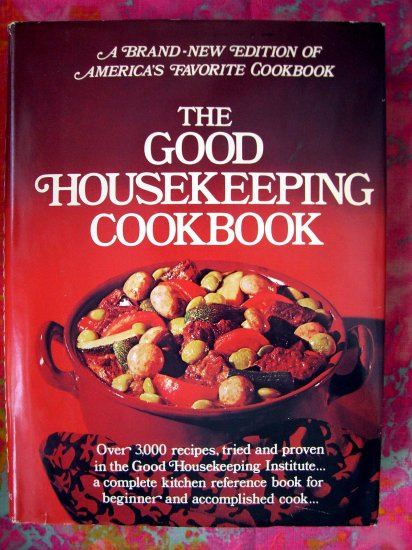 SOLD! SOLD! SOLD!  The GOOD HOUSEKEEPING COOKBOOK 1973 HCDJ Near MINT! Classic From Scratch Recipes