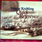 Vogue Knitting Quick Reference: The Ultimate Portable Knitting Compendium (Spiral-bound)