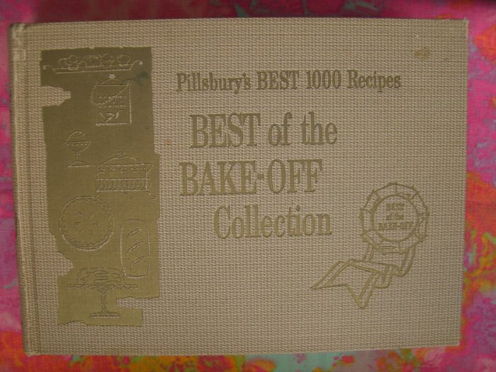SOLD!  VINTAGE 1959 PILLSBURY BAKE OFF Hard Cover COOKBOOK~~ First Ten Years of Recipes! Rare book!