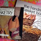 LOT 2 TECHNIQUES BASKETRY HANDMADE BASKET BOOK PATTERN