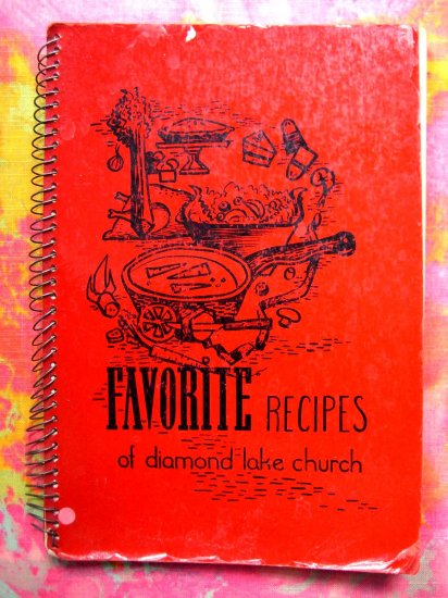 HOLD! VINTAGE 1954 Minneapolis, Minnesota Lutheran Church Cookbook plus ADS in the back!
