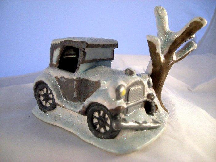 SOLD! It's (Its) A Wonderful Life  George Bailey's Car ~~ Enesco Village Scene IAWL