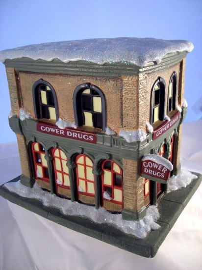 SOLD! It's A Wonderful Life Enesco GOWER'S DRUG STORE ~ VILLAGE SERIES I