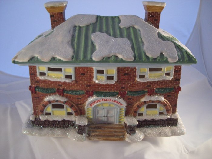 SOLD! It's A Wonderful Life Bedford Falls LIBRARY Enesco Village Series 4 IV