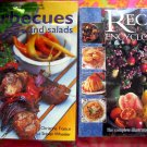TWO HUGE COOKBOOK Together over 1000 RECIPES!  BBQ & SALAD AMAZING!
