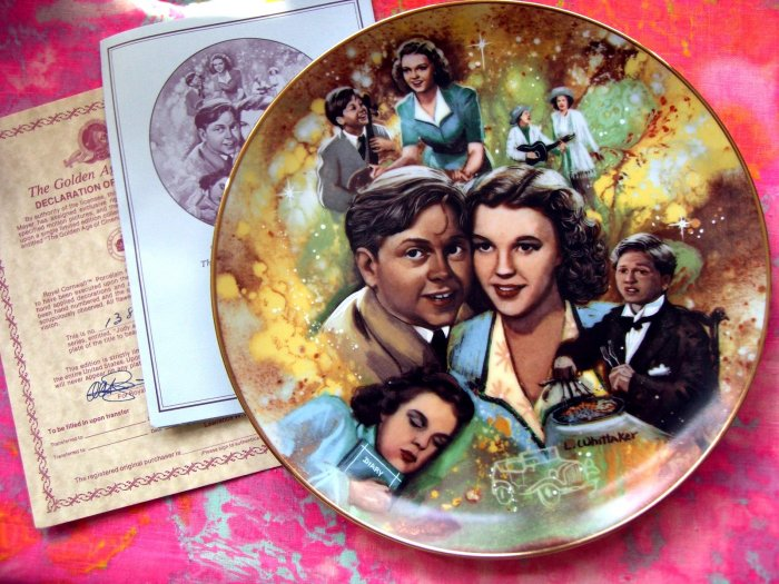 SOLD!  GOLDEN AGE OF CINEMA Collector's Plate  Judy Garland Mickey Rooney Ltd Ed Hollywood Movie