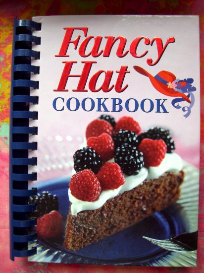 SOLD! FANCY HAT RED HOT DIVA'S COOKBOOK  Just read the 100 Recipes