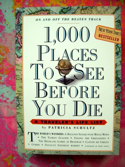 SOLD!  A Traveler's Life1,000 Places to See Before You Die  Vacation Travel Book Guide