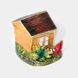 SOLD! Dept 56 Wizard of Oz Dorothy's House & Witch's Ruby Slippers Jeweled Hinged Box NEW IN BOX!
