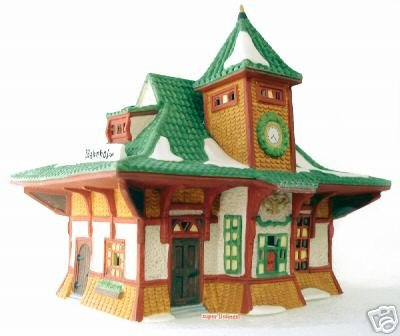 SOLD! Dept 56 Alpine Village ~ Bahnhof # 56154 Train Station NEW IN BOX