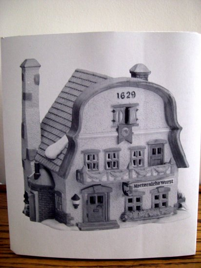 Dept 56 Alpine Village ~ Metterniche Wurst # 56189 NEW in Box