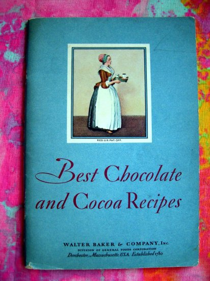 Vintage Best Chocolate & Cocoa Recipes Booklet Cookbook 1931 Little Recipe Book
