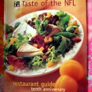 TASTE OF THE NFL COOKBOOK & RESTAURANT RECIPES 10th Anniversary Edition