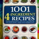 1001 4-Ingredient Recipes Cookbook HCDJ LARGE Recipe Book!