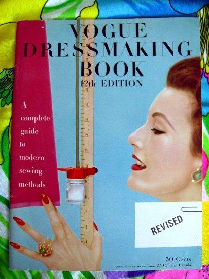 Vintage 1957 Vogue Dressmaking Sewing Book