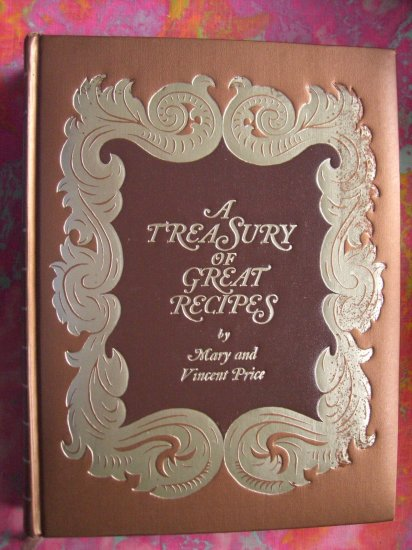 "SOLD!  Rare VINCENT PRICE COOKBOOK ""A Treasury of Great Recipes"" ~ Vintage 1965 / 1974"