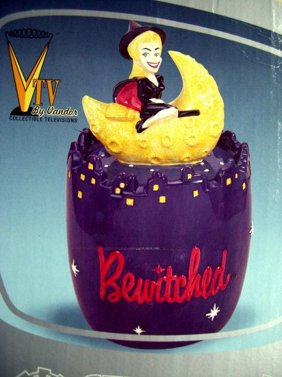 Sold! Rare TV'S BEWITCHED COOKIE JAR Samantha Riding Her Broom  FREE SHIPPING & Insurance