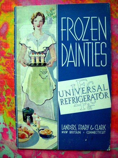 Rare Vintage Advertising Booklet FROZEN DAINTIES