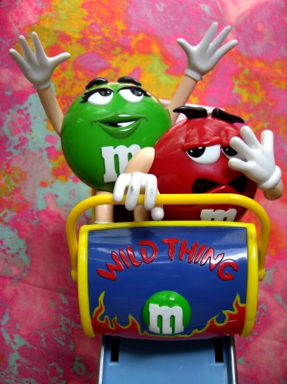 SOLD! M&M (M&M's) Candy Dispenser WILD THING ROLLER COASTER