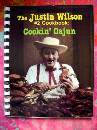 TV's Justin Wilson #2 (Number 2) Cookbook~~Cookin' Cajun Recipes 1986