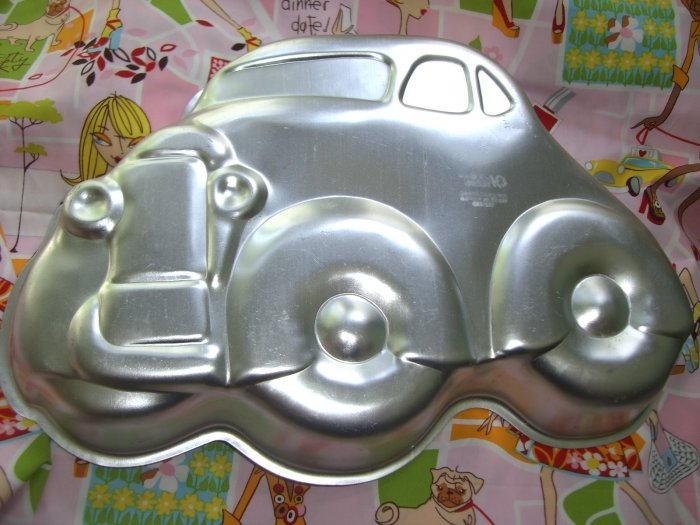 SOLD!  Vintage WILTON CAKE PAN FUNNY CAR Hot Rod Low Rider Auto