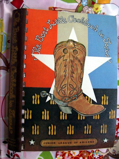 SOLD! Best Little Cookbook in Texas by the Junior League of ABILENE TX 1982 2nd Edition TX Recipes