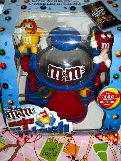 "SOLD! Limited Edition M&M's  M&Ms ""MAKE A SPLASH"" Candy Dispenser NEW in Box Scuba Pool Fun!"