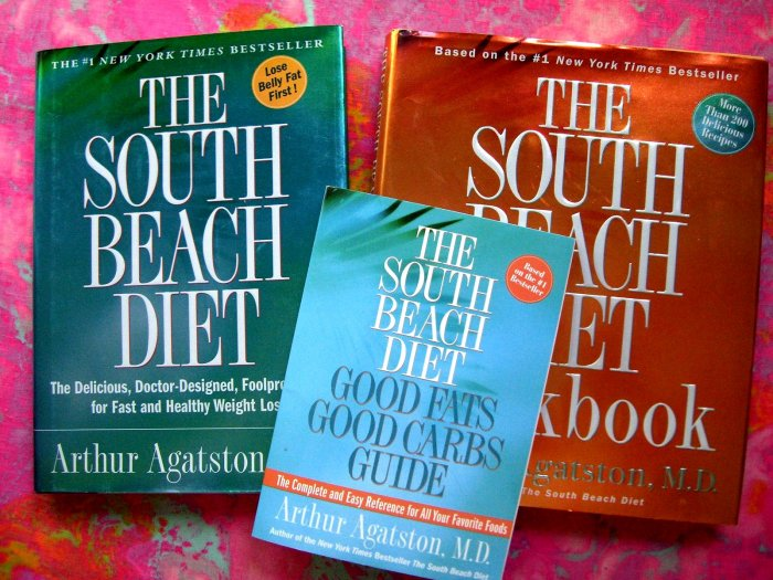 SOLD! Lot South Beach Diet Book & Cookbook by Arthur Agatston Weight Loss Guide