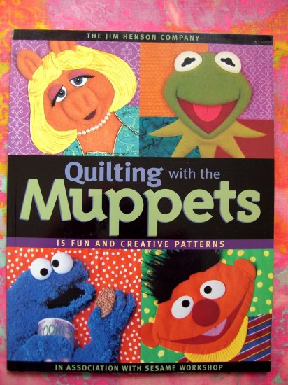 SOLD! The Muppet Show Sesame Street Quilting Patterns Kermit Quilt Pattern Book