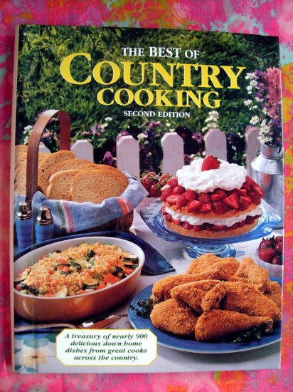 SOLD! The Best of Country Cooking Cookbook by Julie Schnittka HC Spiral